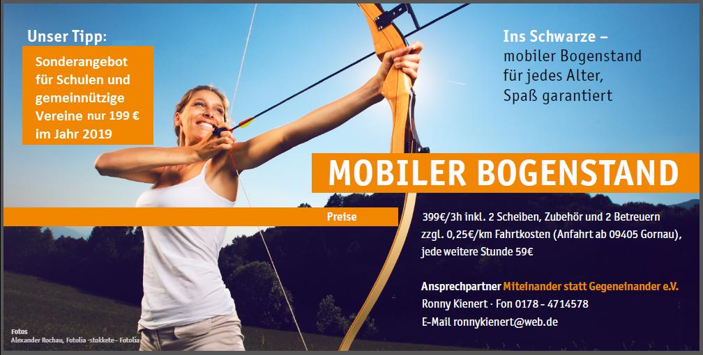 Das Angebot des MsG e.V. zum mobilen Bogensport in Chemnitz