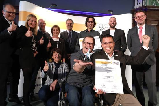 Auszeichnung bei Sterne des Sports 2018 in Dresden - Platz 1 für Sachsen