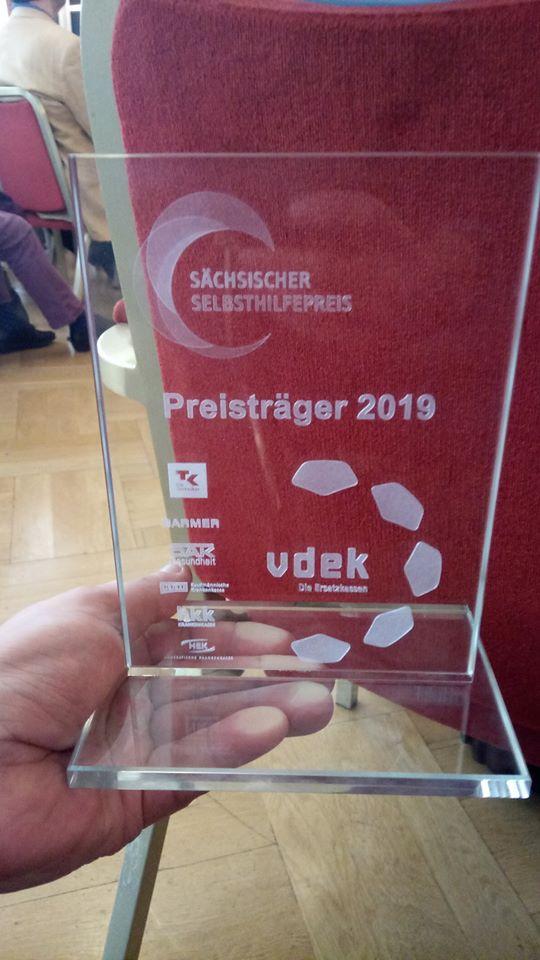 Preisträger des Sächsischen Selbsthilfepreis 2019 ist der MsG e.V. Chemnitz