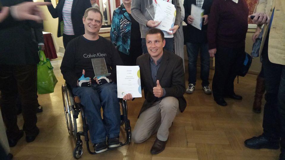 R. Kienert und S.Stoltze bei der Preisverleihung im Chemnitzer Hof - November 2019